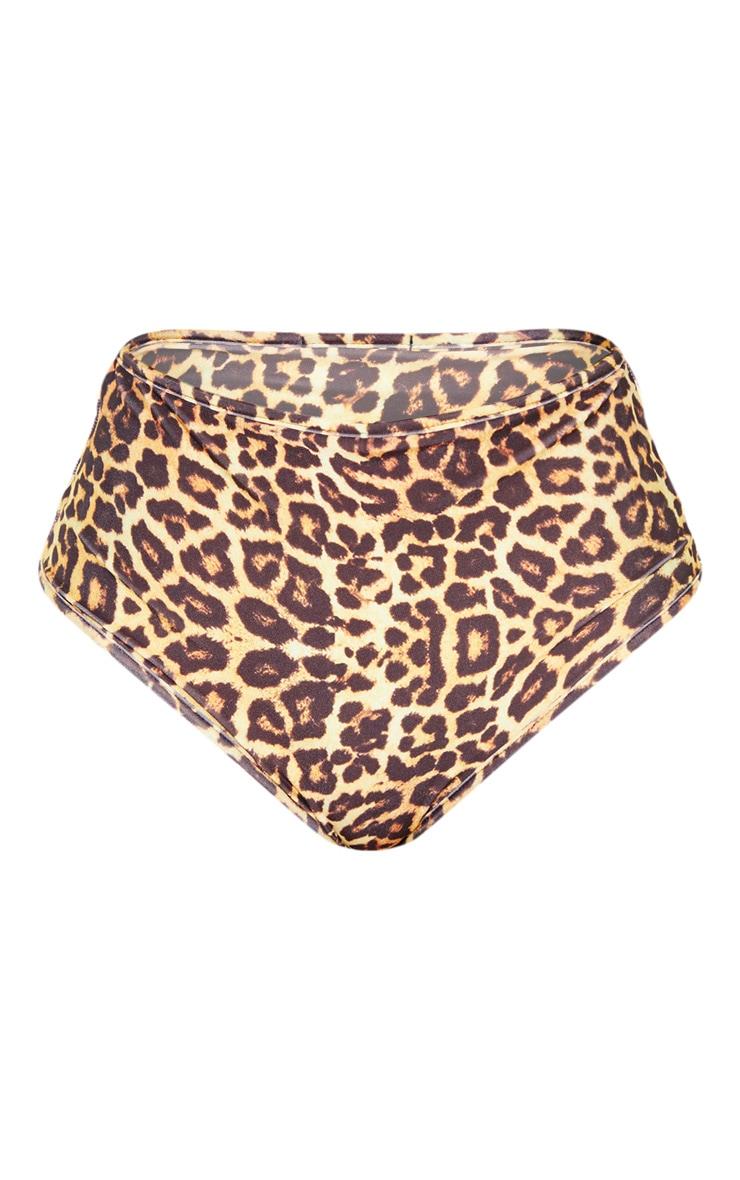 Leopard Mix & Match High Waisted Bikini Bottom 3