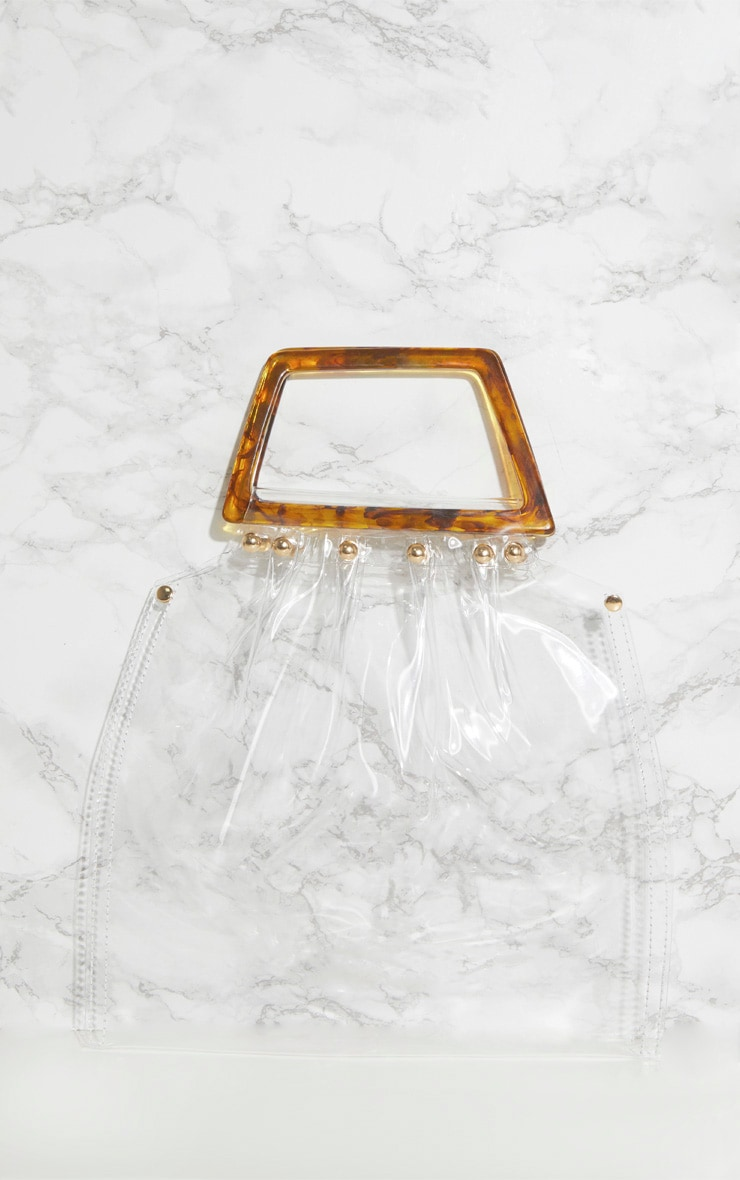 Clear Tortoiseshell Handle Bag 3