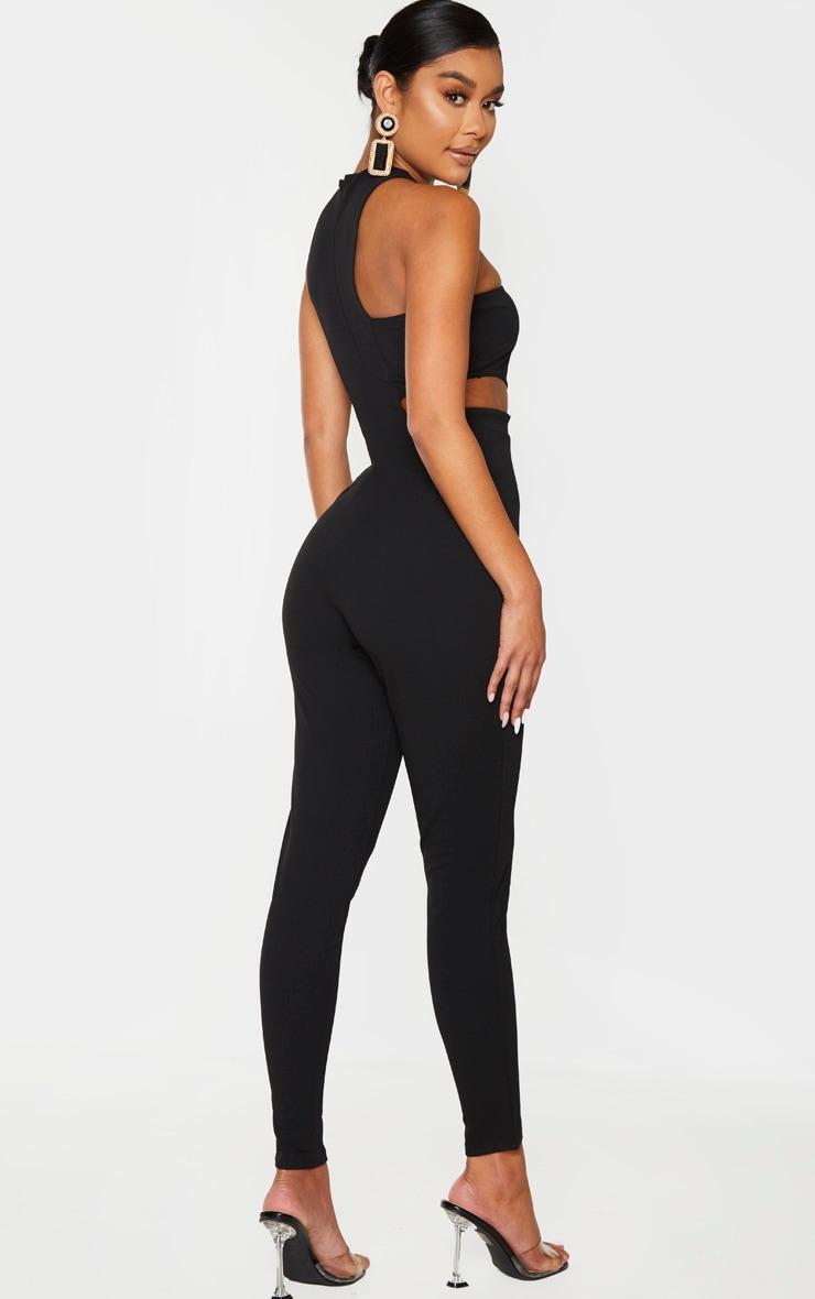 Black Asymmetric One Shoulder Jumpsuit 2