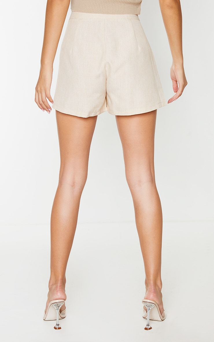 Stone Woven Textured Shorts 3