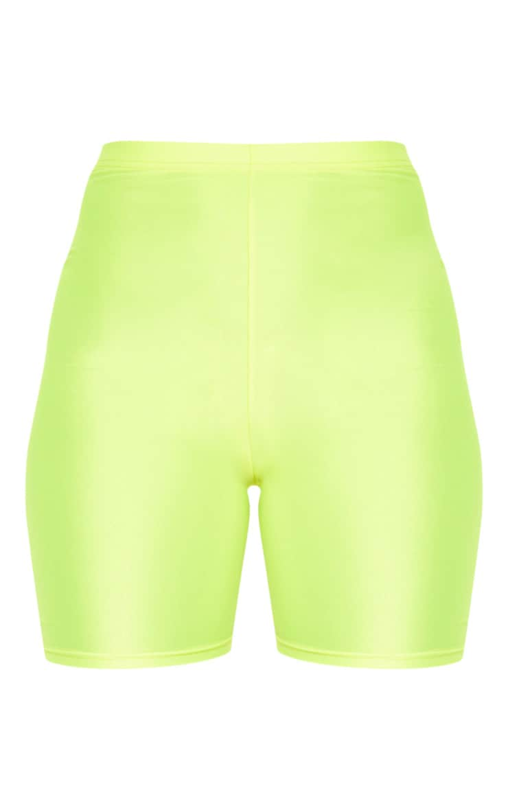 Yellow Neon Cycling Shorts 3