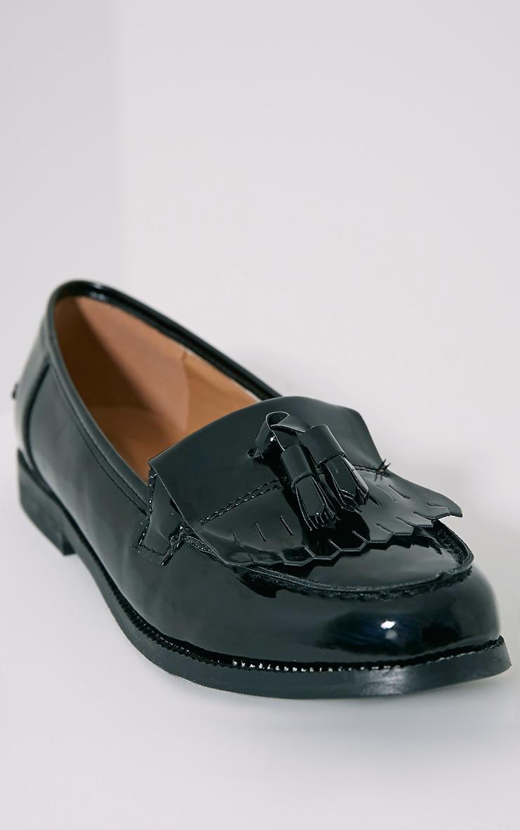 Trella Black Patent Loafers 6