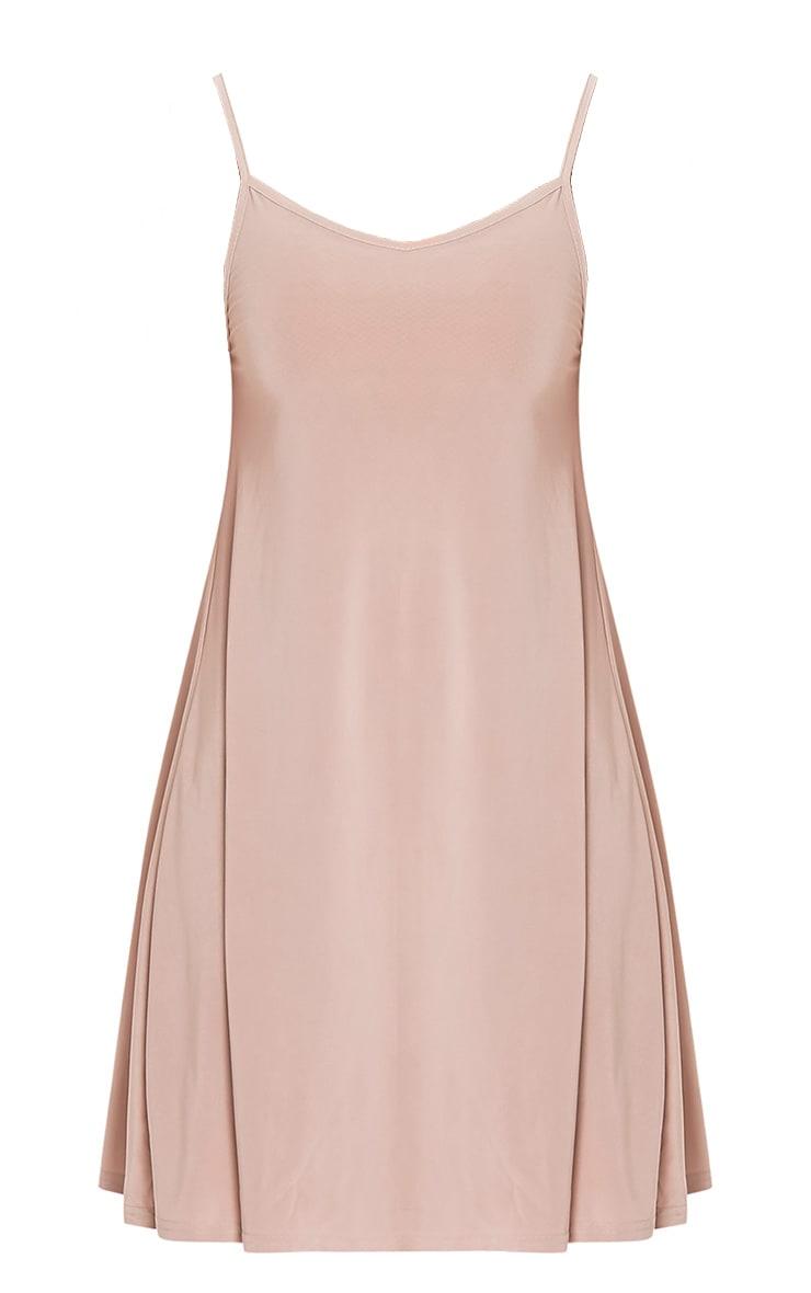 Abby Nude Slinky Swing Dress   Dresses   PrettyLittleThing