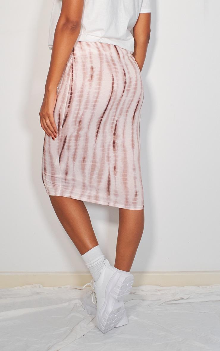Stone Tie Dye Printed Midi Skirt 3