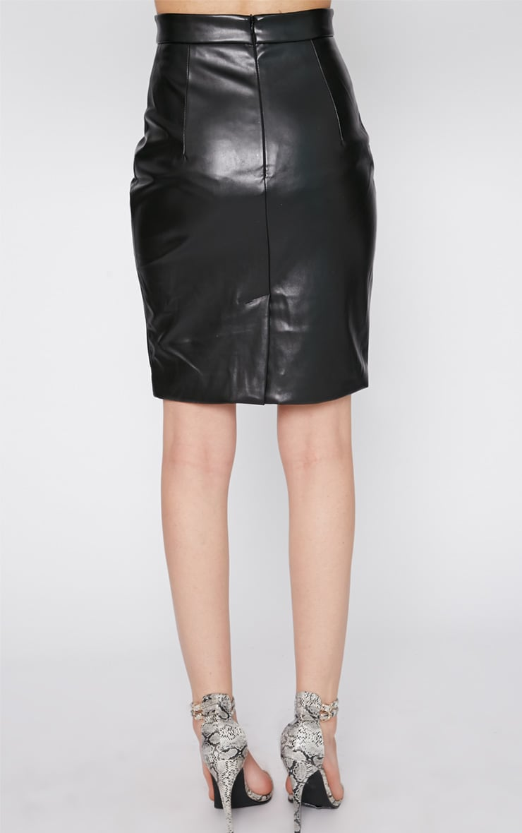 Analise Black Leather Skirt 4