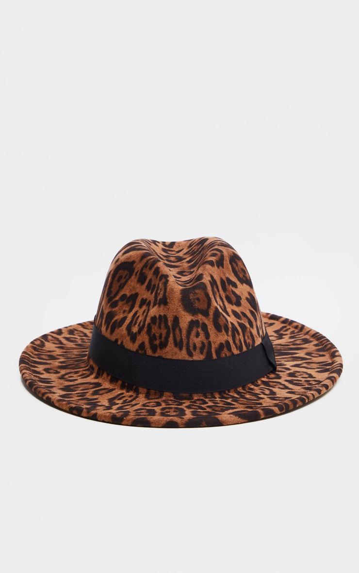 Leopard Fedora Hat 2