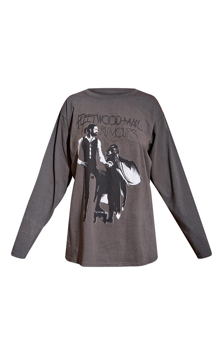 Grey Fleetwood Mac Long Sleeve Grey T Shirt 5