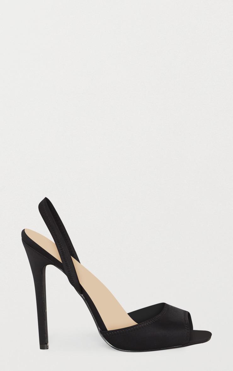 Black Slingback Sandal 3