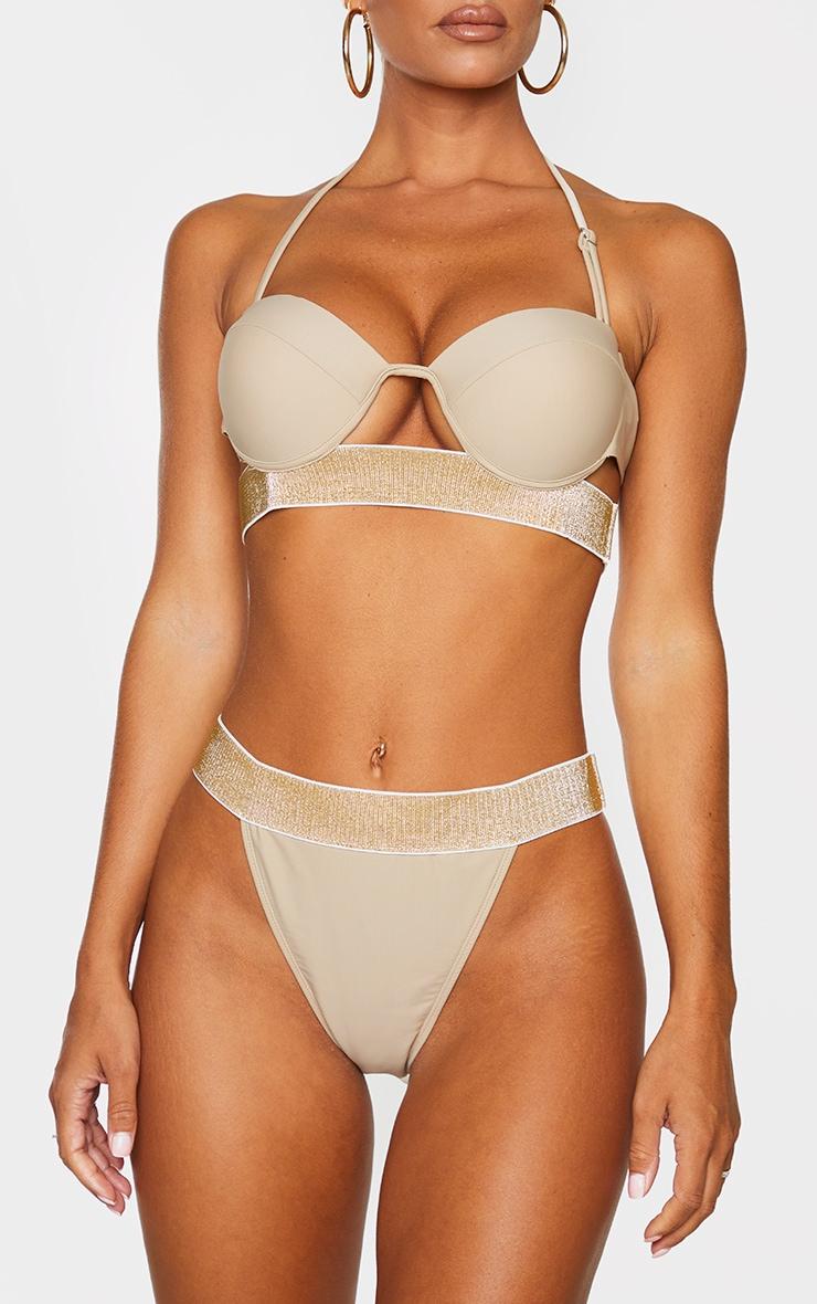 Sand Glitter Waist Tanga Bikini Bottom 1