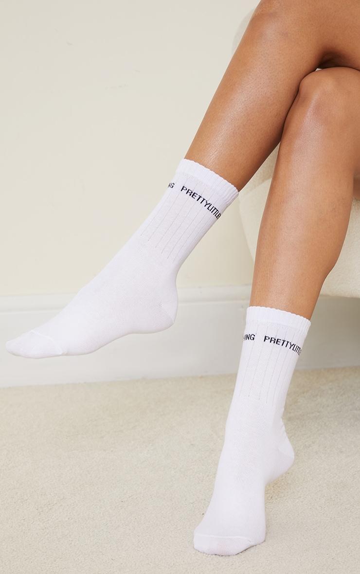 PRETTYLITTLETHING White Basic Socks 1