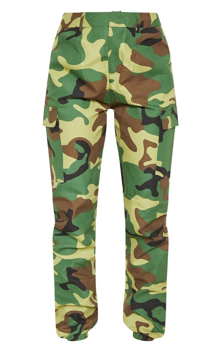 Pantalon cargo kaki imprimé camouflage 3