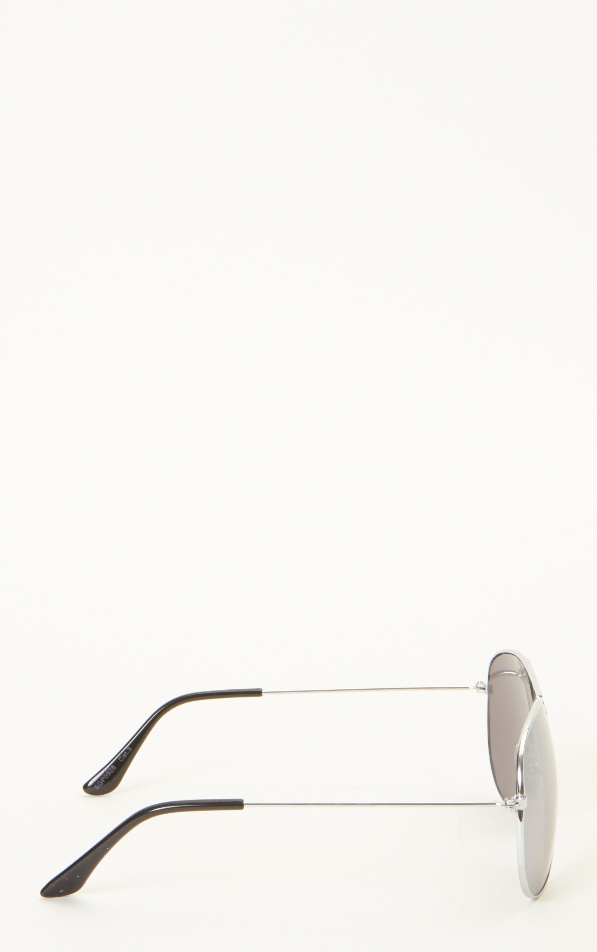 Dana Silver Frame Black Aviators 3
