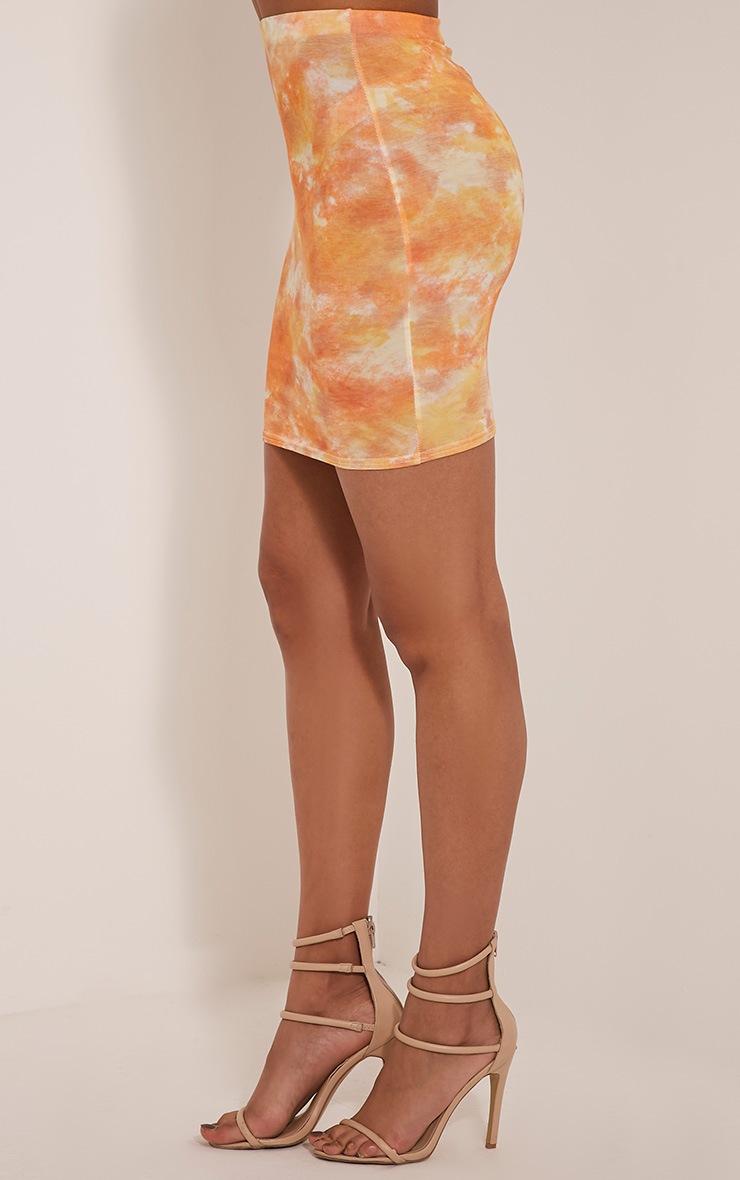 Aliza Orange Tie Dye Mini Skirt 4
