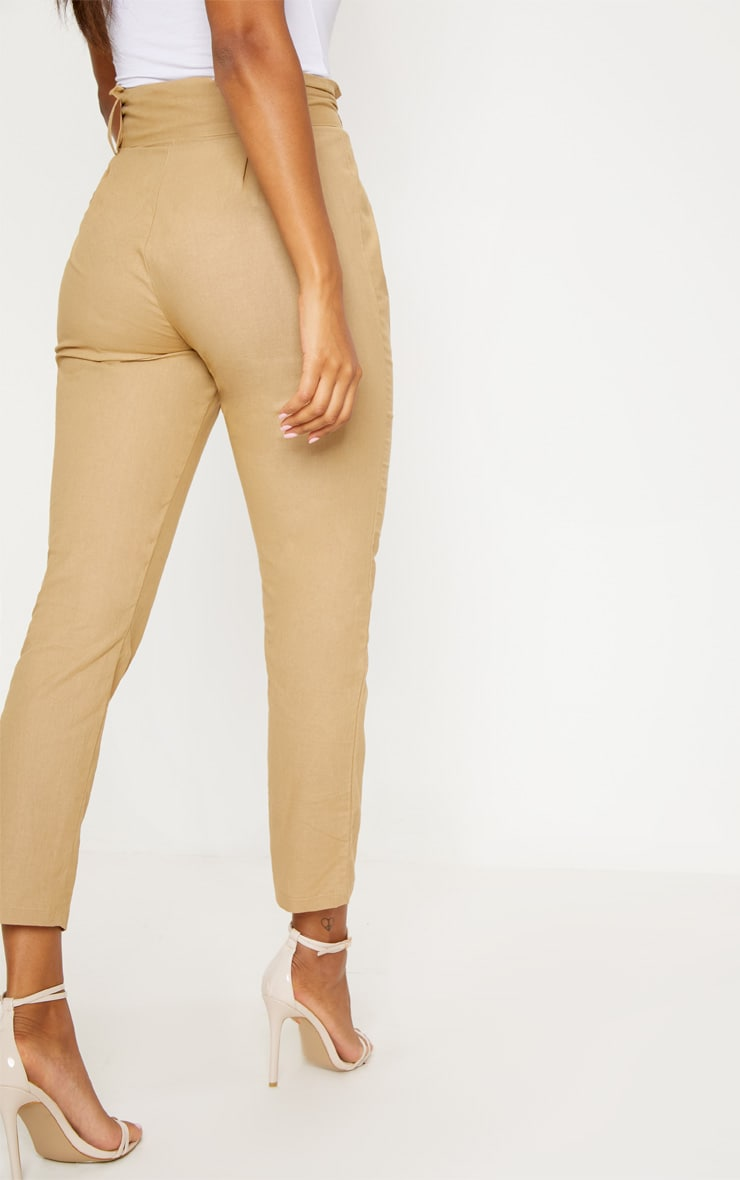 Stone Belted Paperbag Tapered Trouser 4