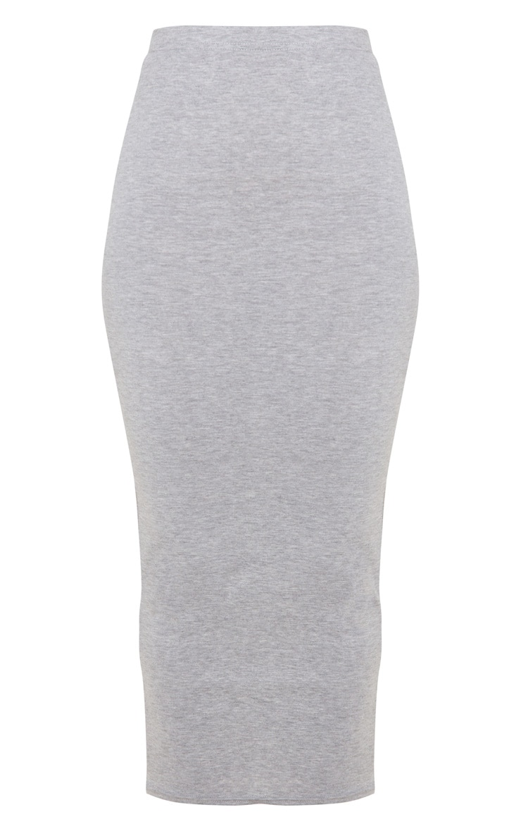 Basic Grey Midaxi Skirt 5