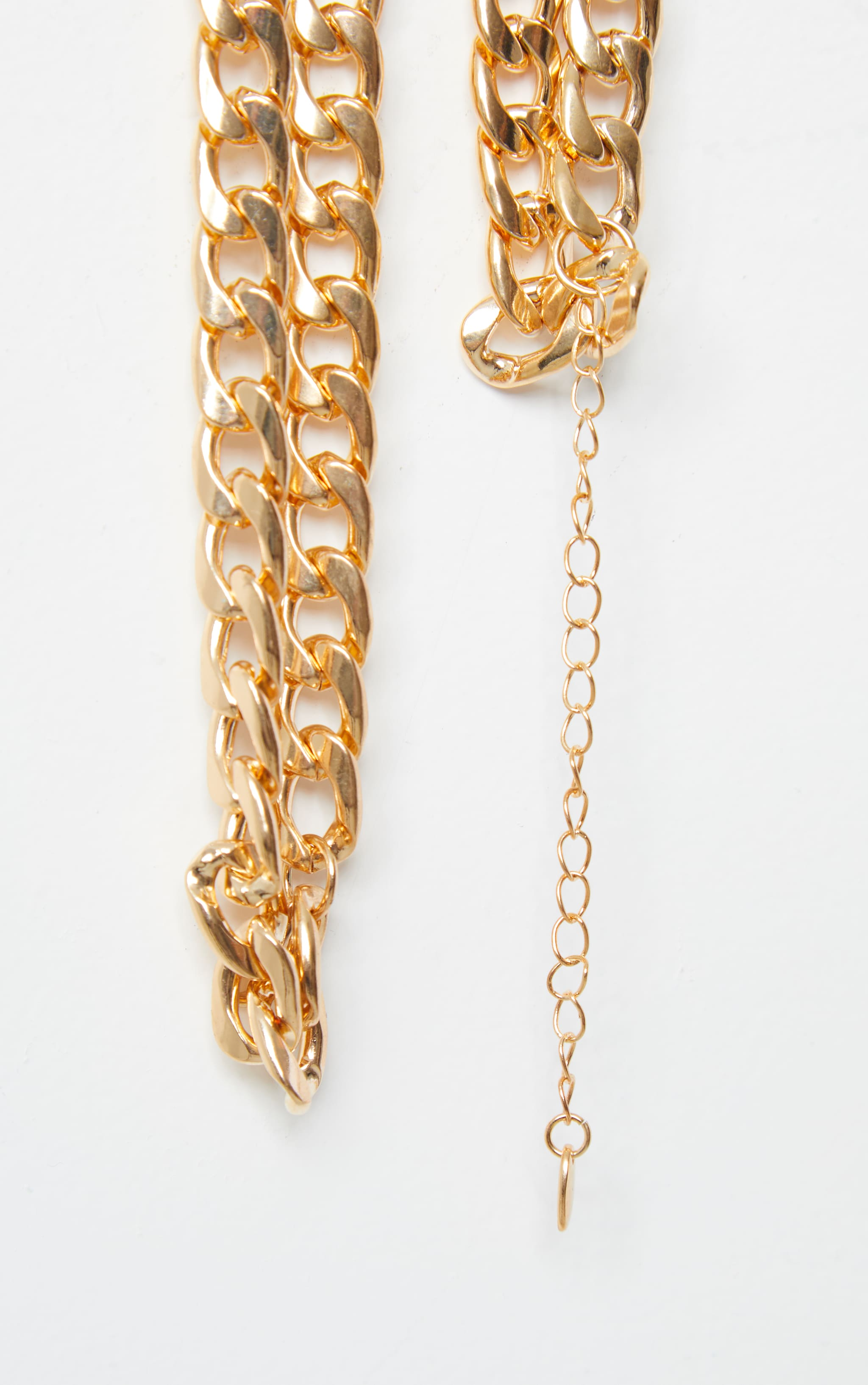 Gold Chunky Double Chain Necklace 4