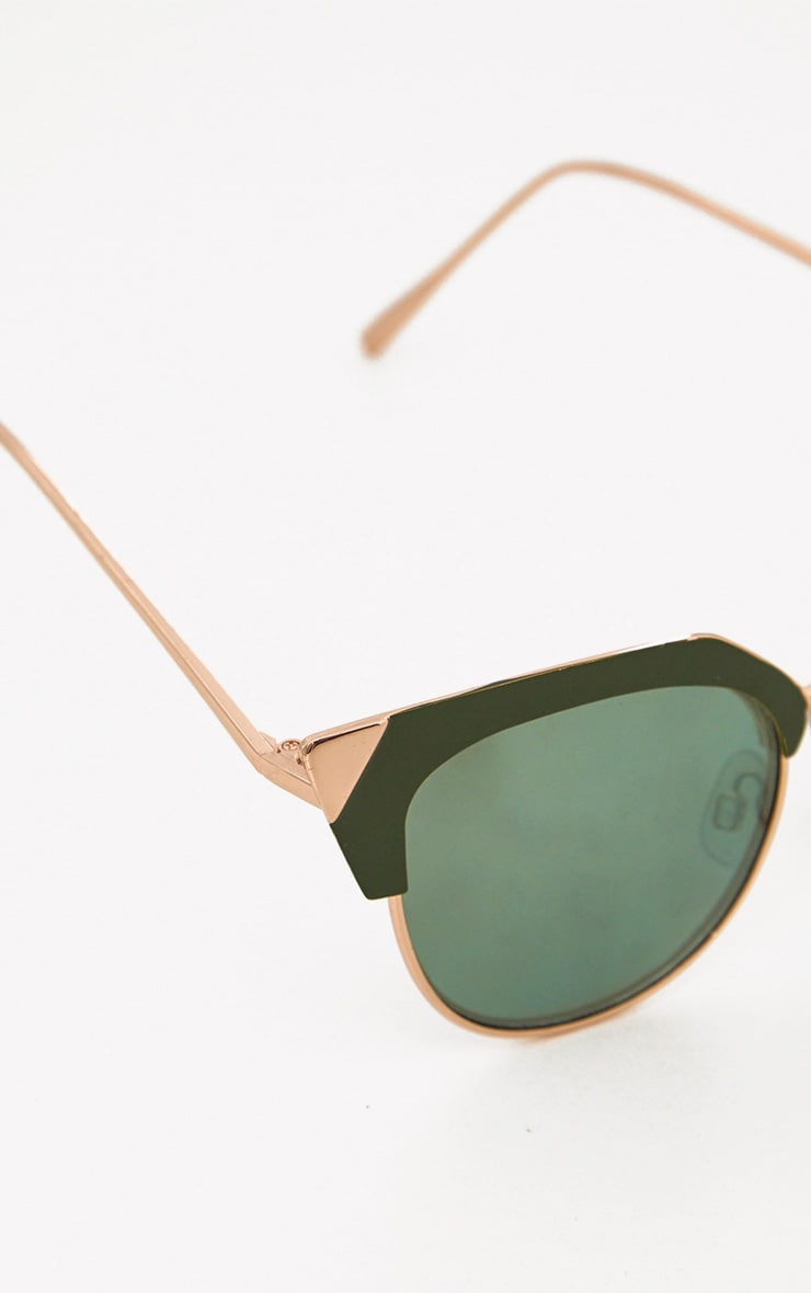 Green Retro Cat Eye Sunglasses 5