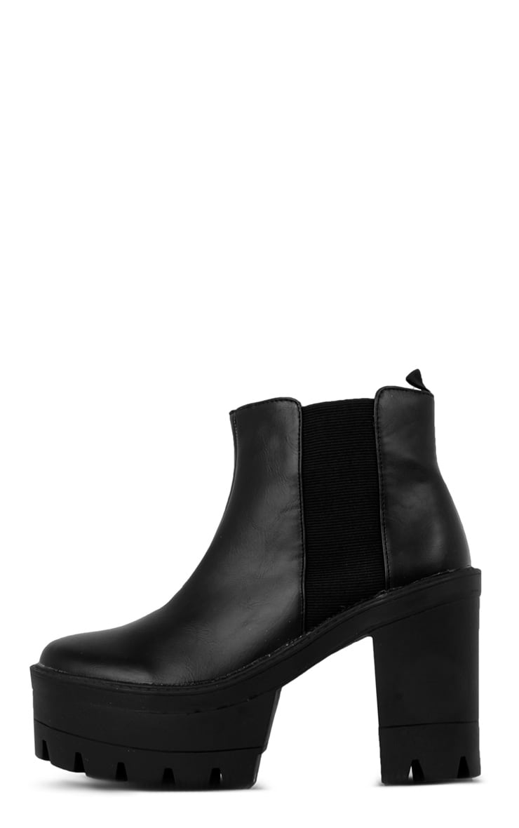 Coco Black Leather Chunky Chelsea Boot  1