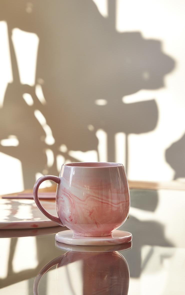 Pink Marble Print Mug 1