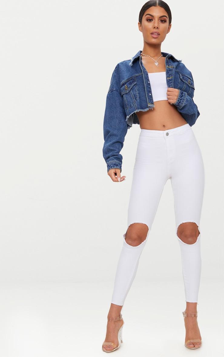 Jean skinny disco blanc