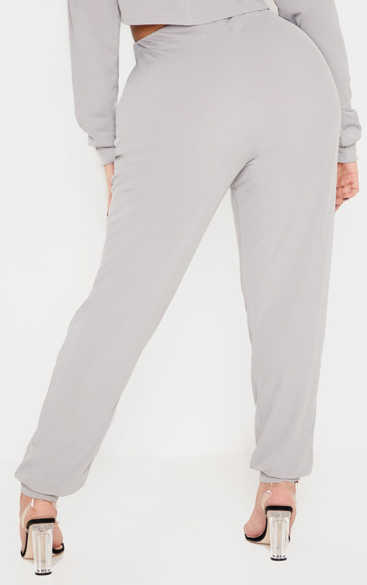Shape Grey Marl Ribbed Cuff Detail Joggers 4
