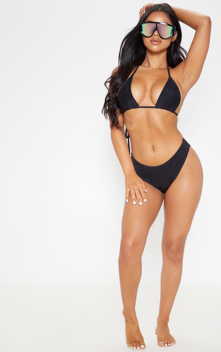 Petite Black Mix & Match Brazilian Thong Bikini Bottom 5