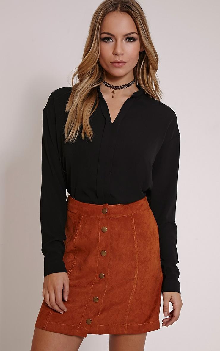 Fifi Black V Neck Shirt 1