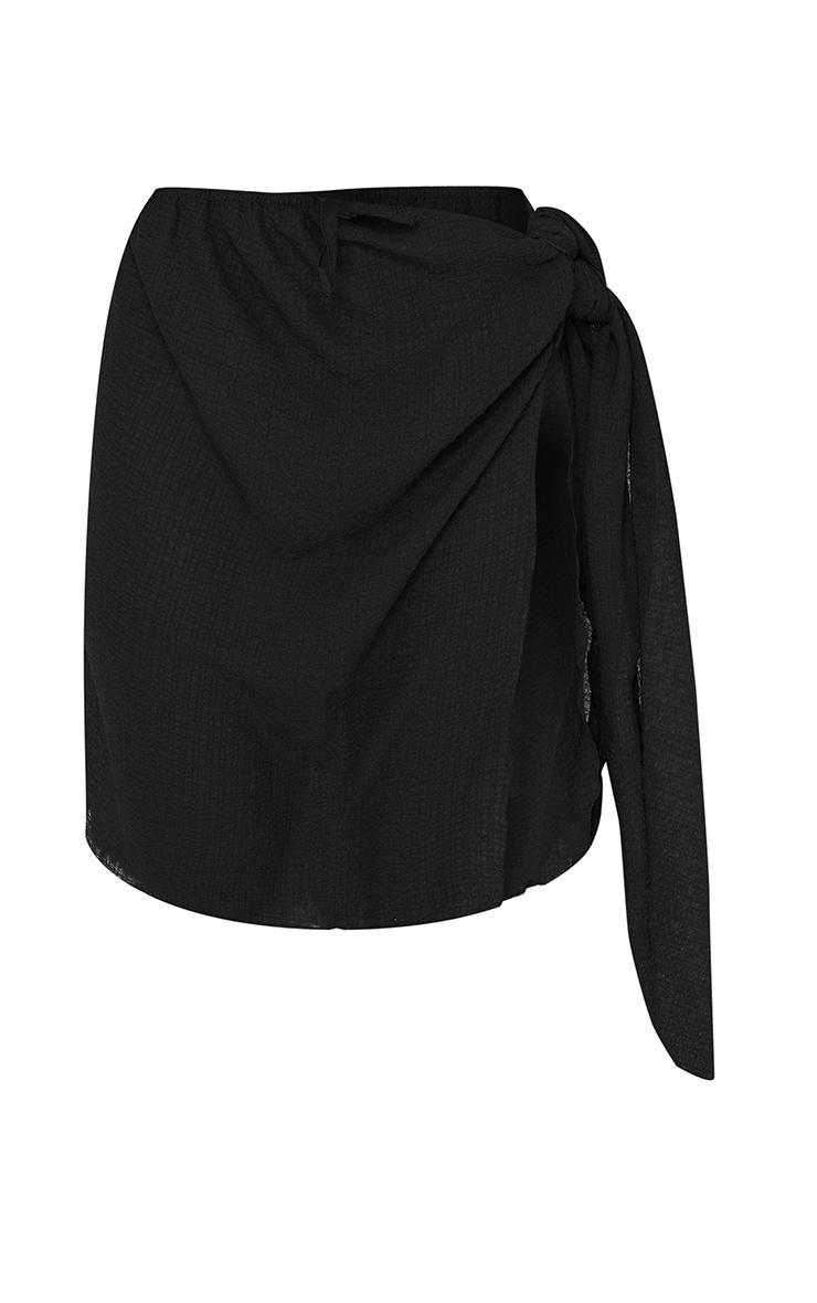 Black Mini Crinkle Sarong 6