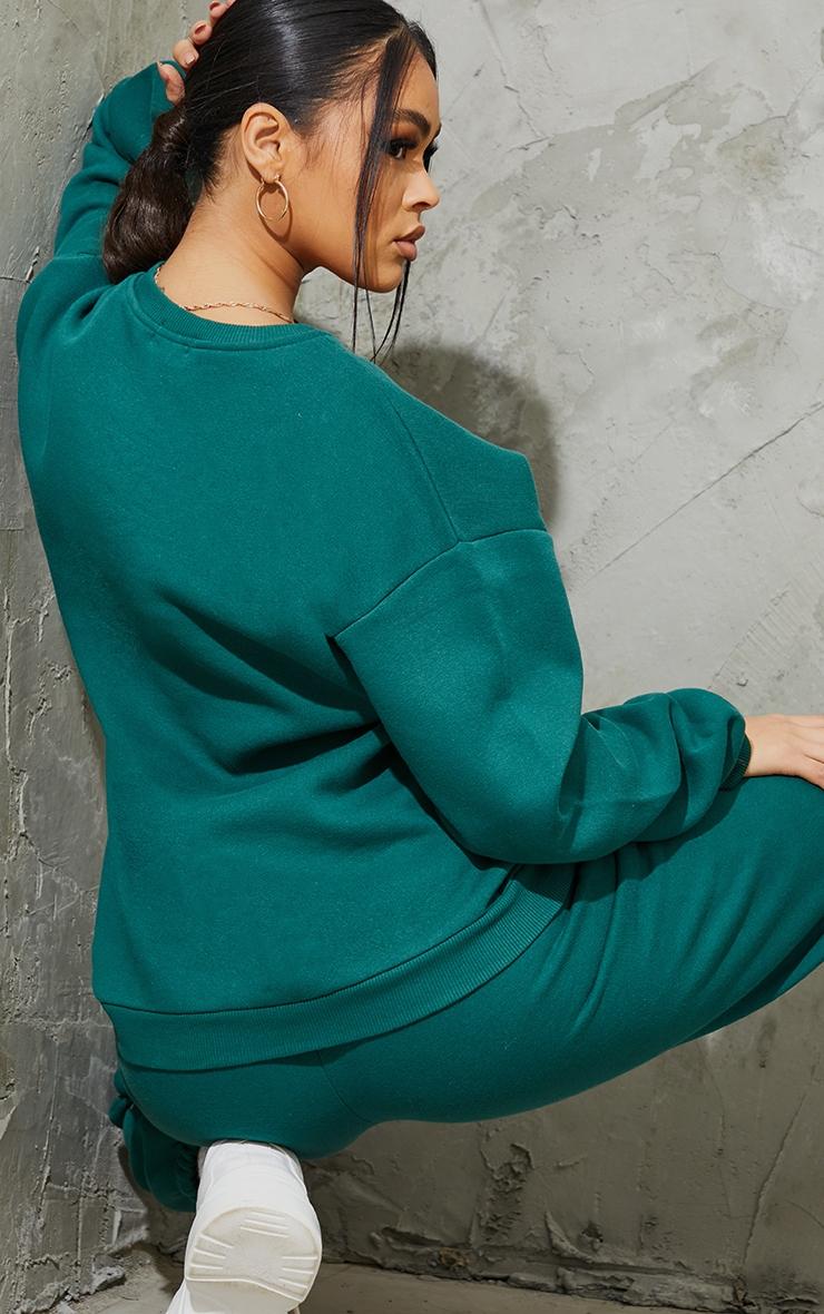 PRETTYLITTLETHING Emerald Circle Logo Sweatshirt 2