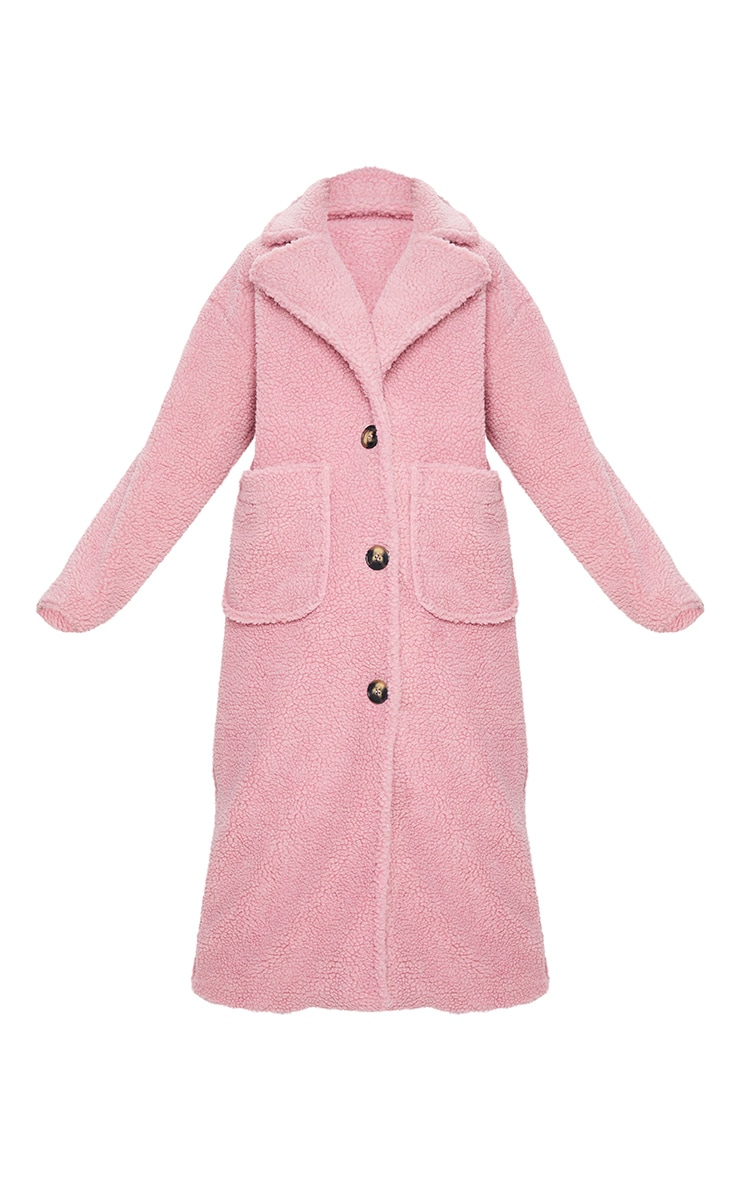 Rose Maxi Borg Coat 5