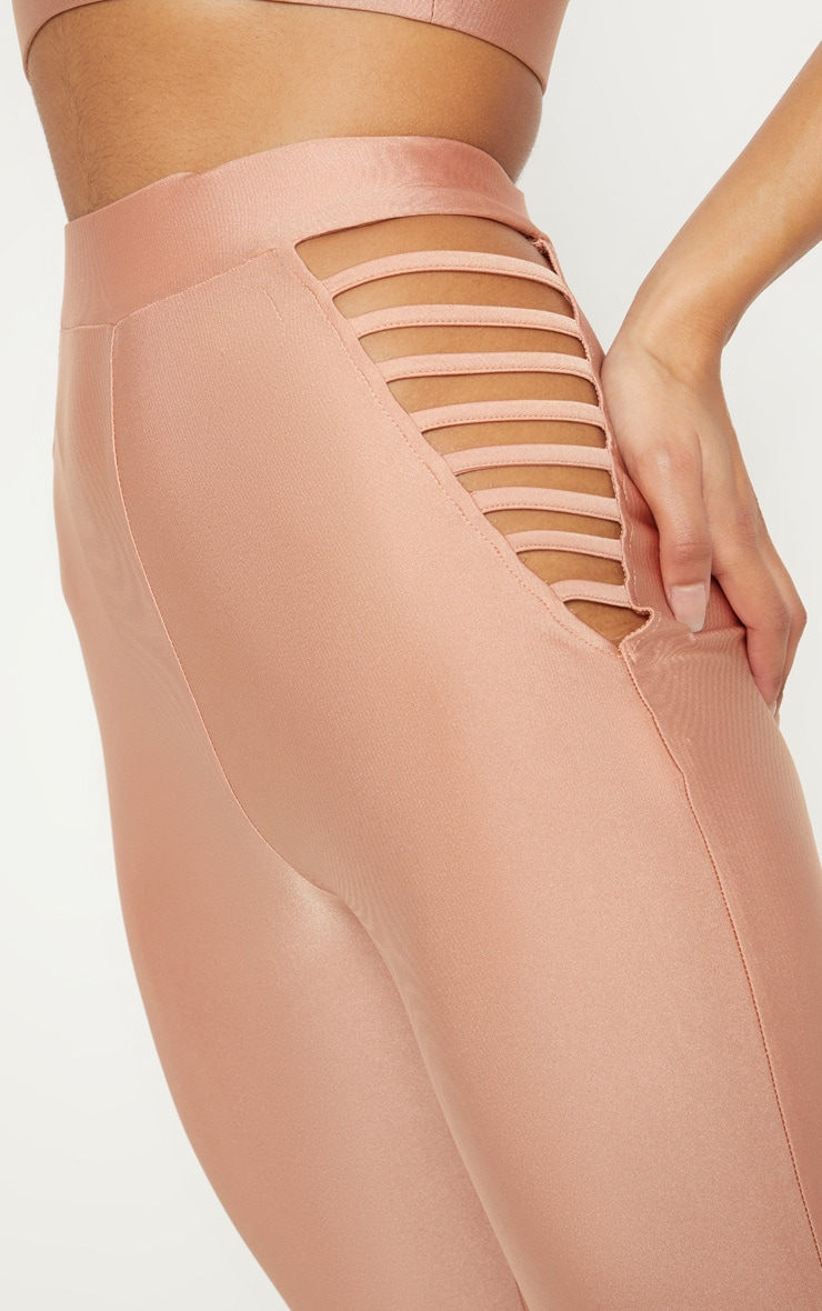 Rose Strappy Side Gym Legging 5