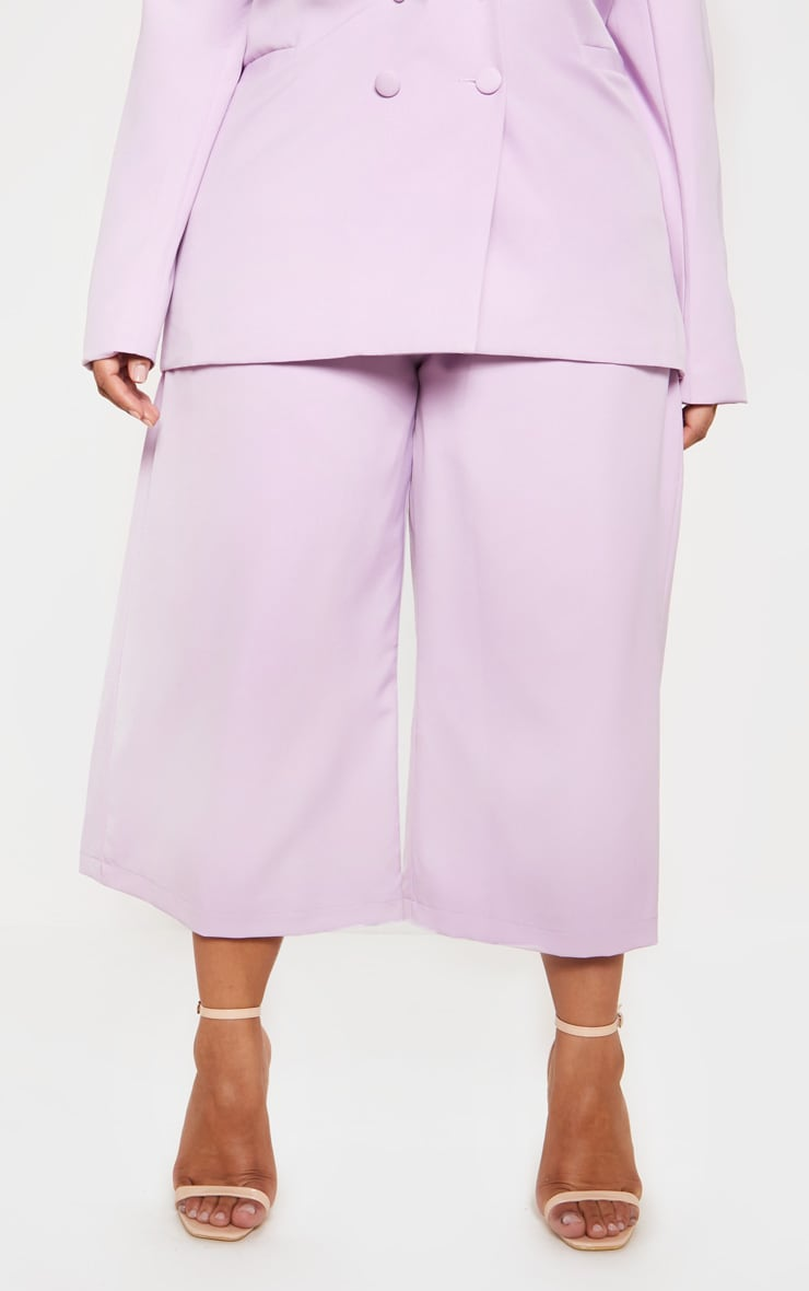 Lilac High Waisted Culottes 3