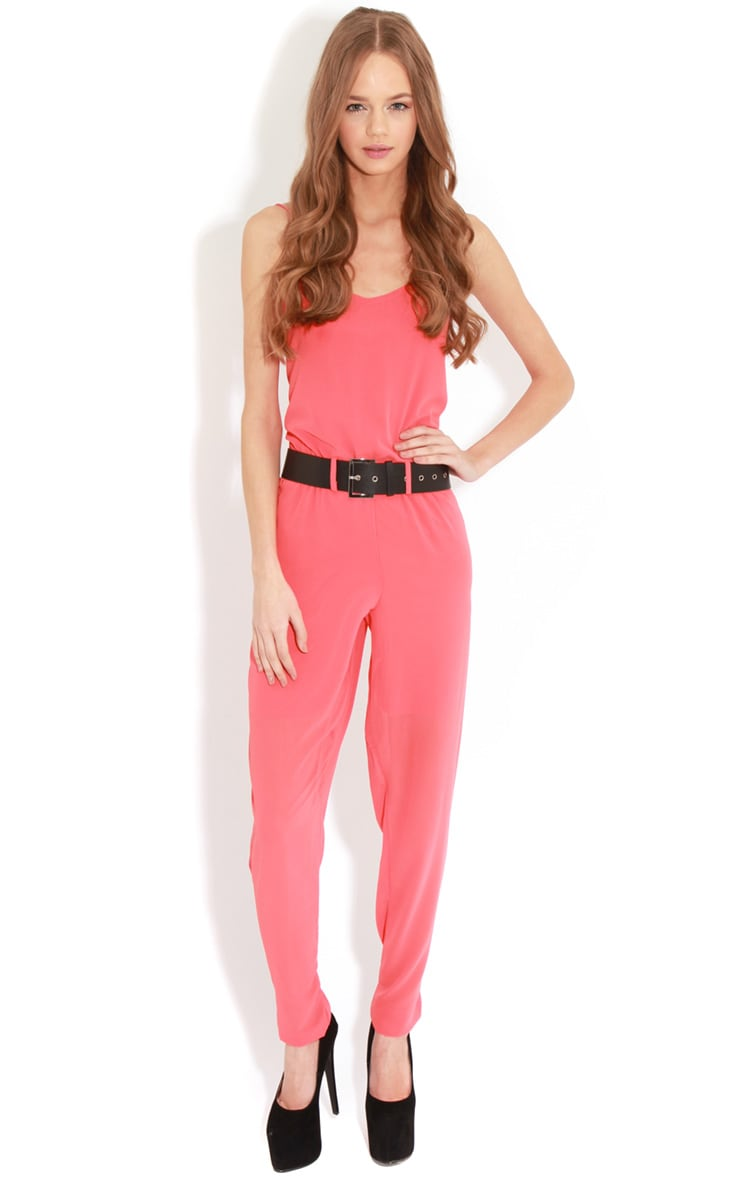 Annabel Coral Chiffon Strappy Jumpsuit  3