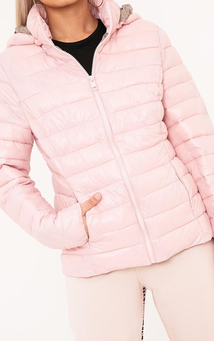 Abeliae Pink Puffer Coat  5