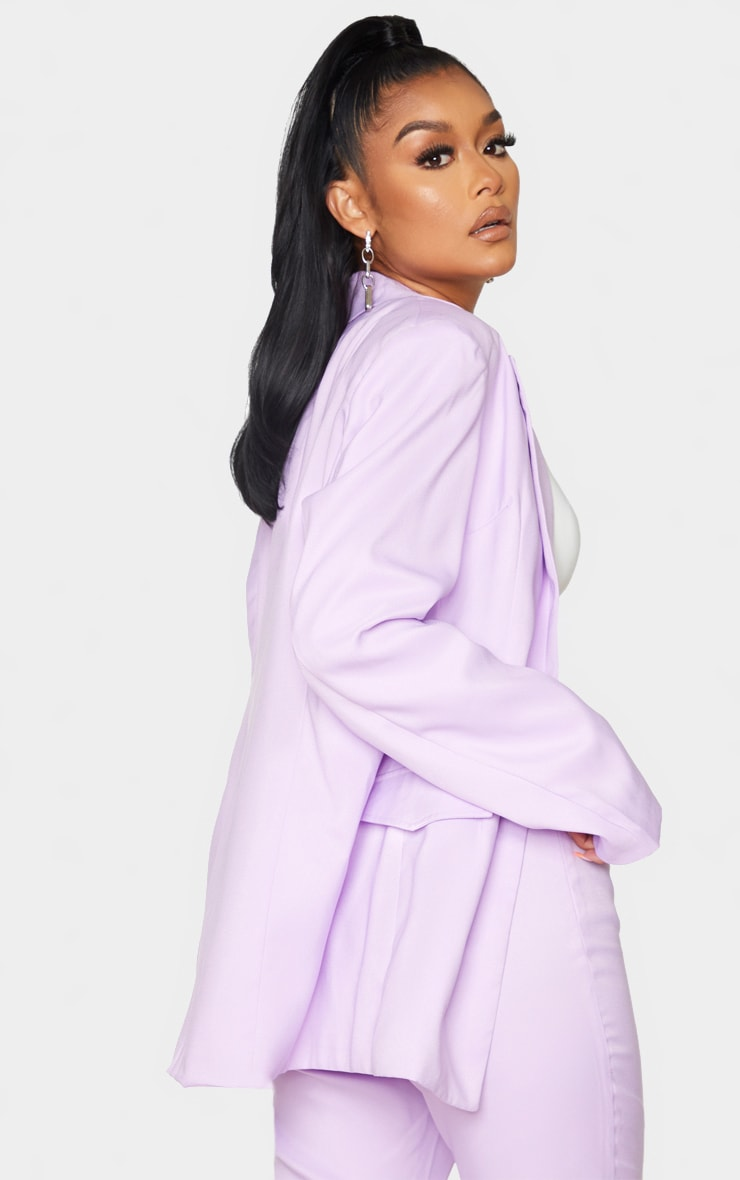 Lilac Oversized Blazer 2
