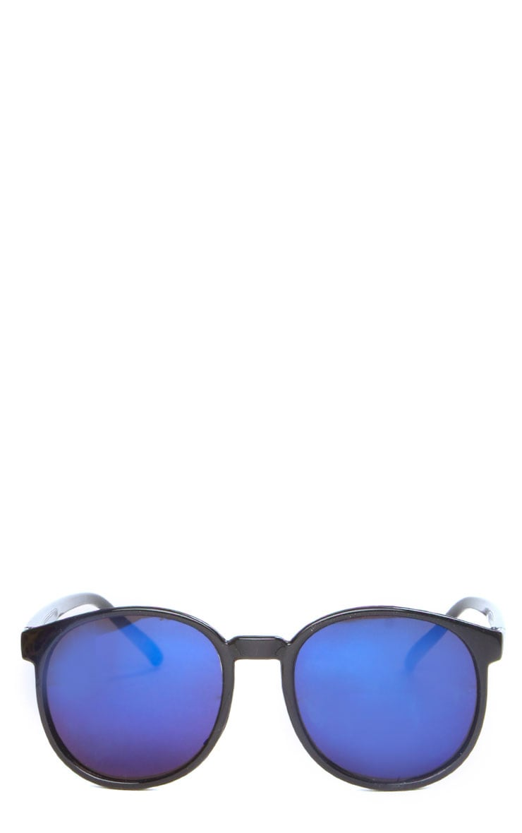 Elva Blue Mirrored Wayfarer Sunglasses 4