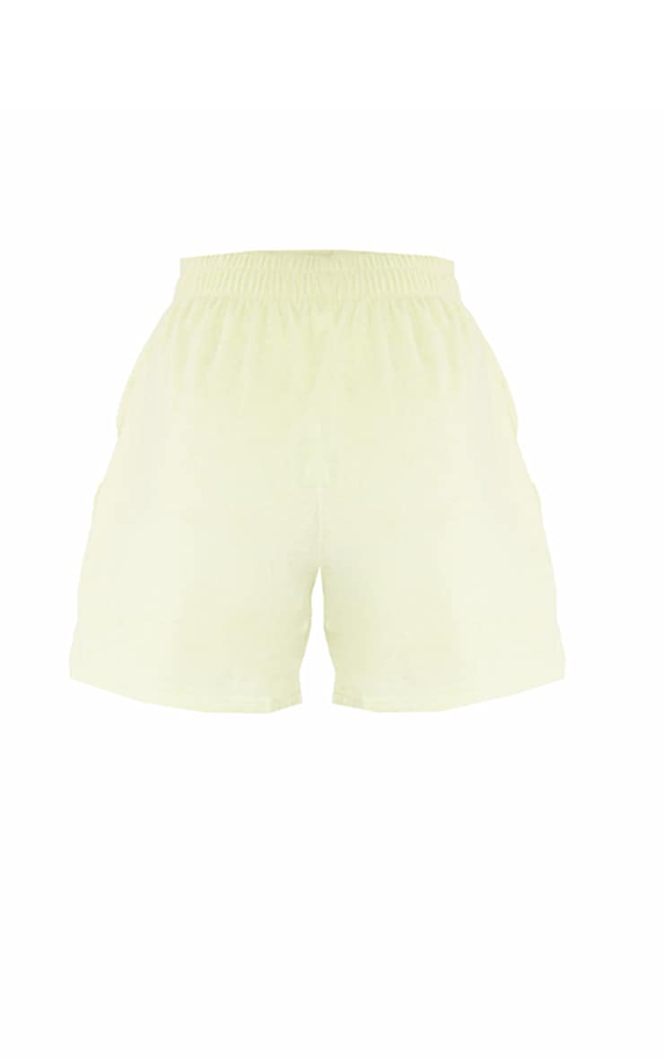 Tall Lime Velour Oversized Sweat Shorts 6