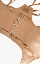 Nude Triple Lace Up Corset Belt 3