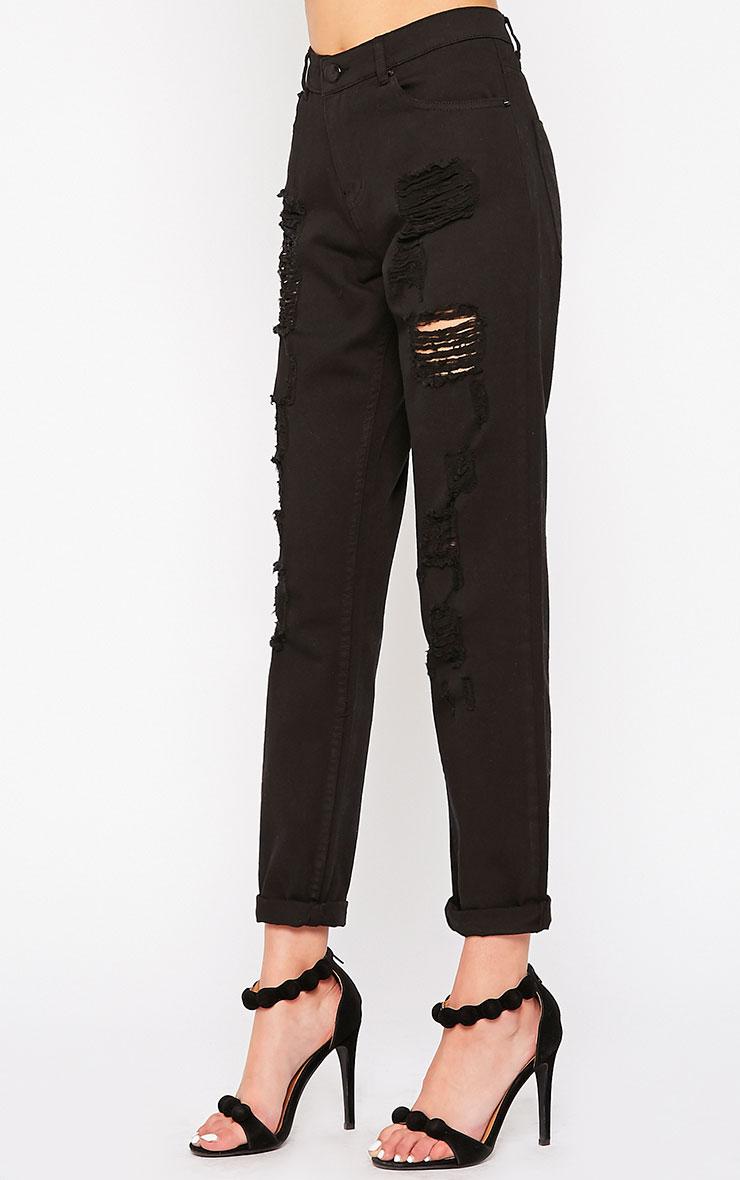Kada Black Extreme Rip Jeans 3