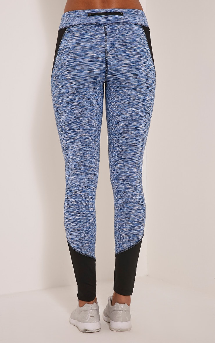 Maleah Blue Marl Gym Leggings 5