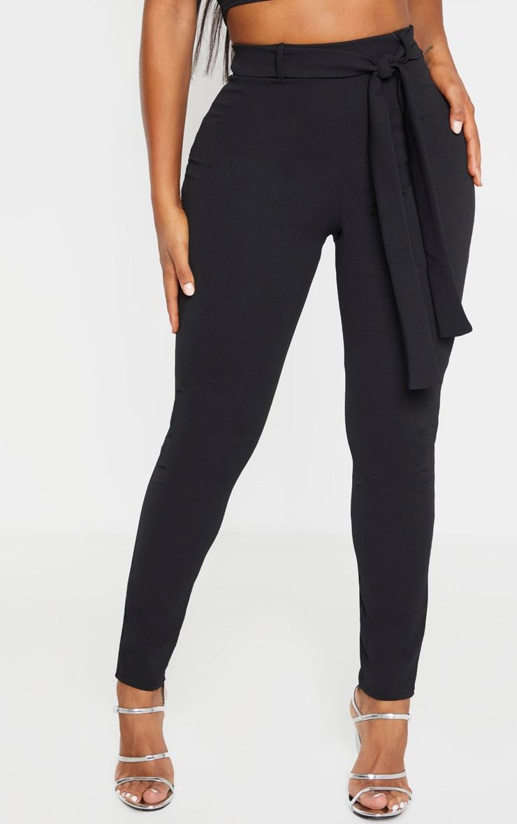 Shape Black Belted Tapered Pants 2
