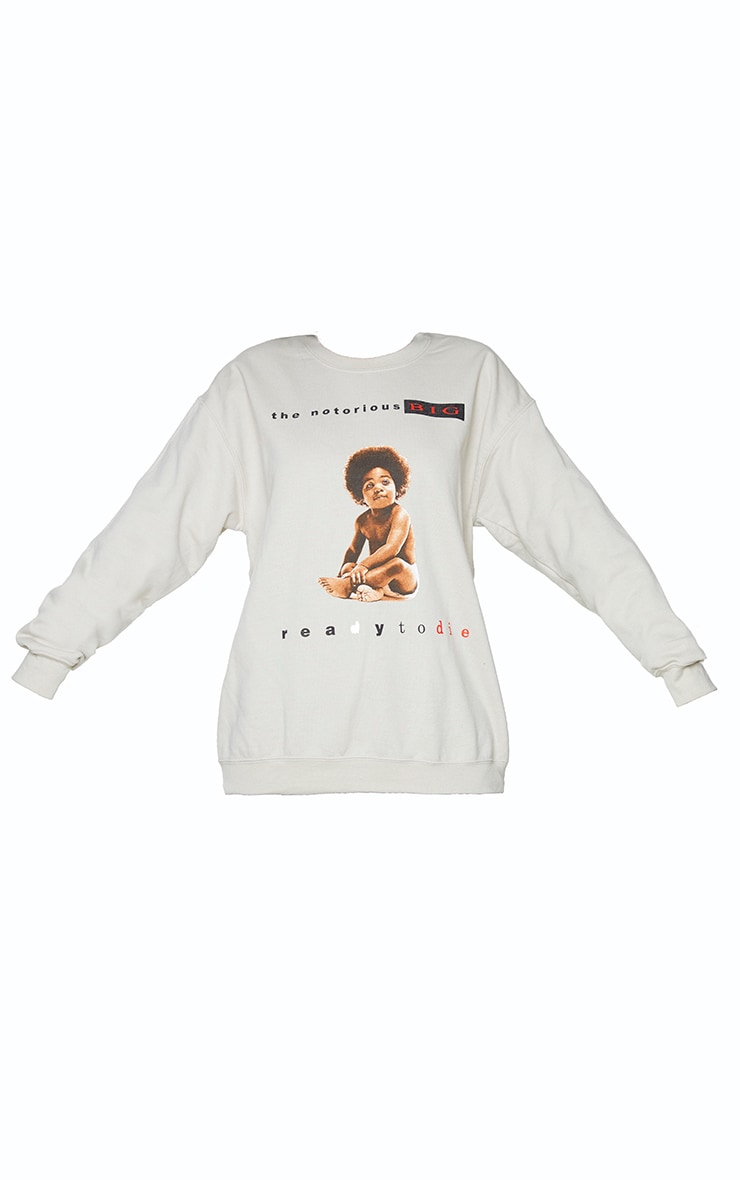 Stone Notorious B.I.G Front And Back Printed Sweatshirt 5