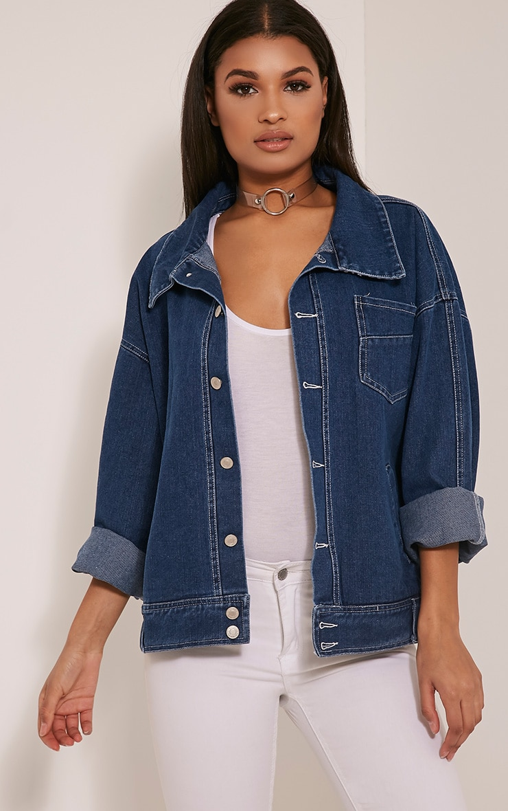 Josana Mid Wash Boyfriend Denim Jacket 1