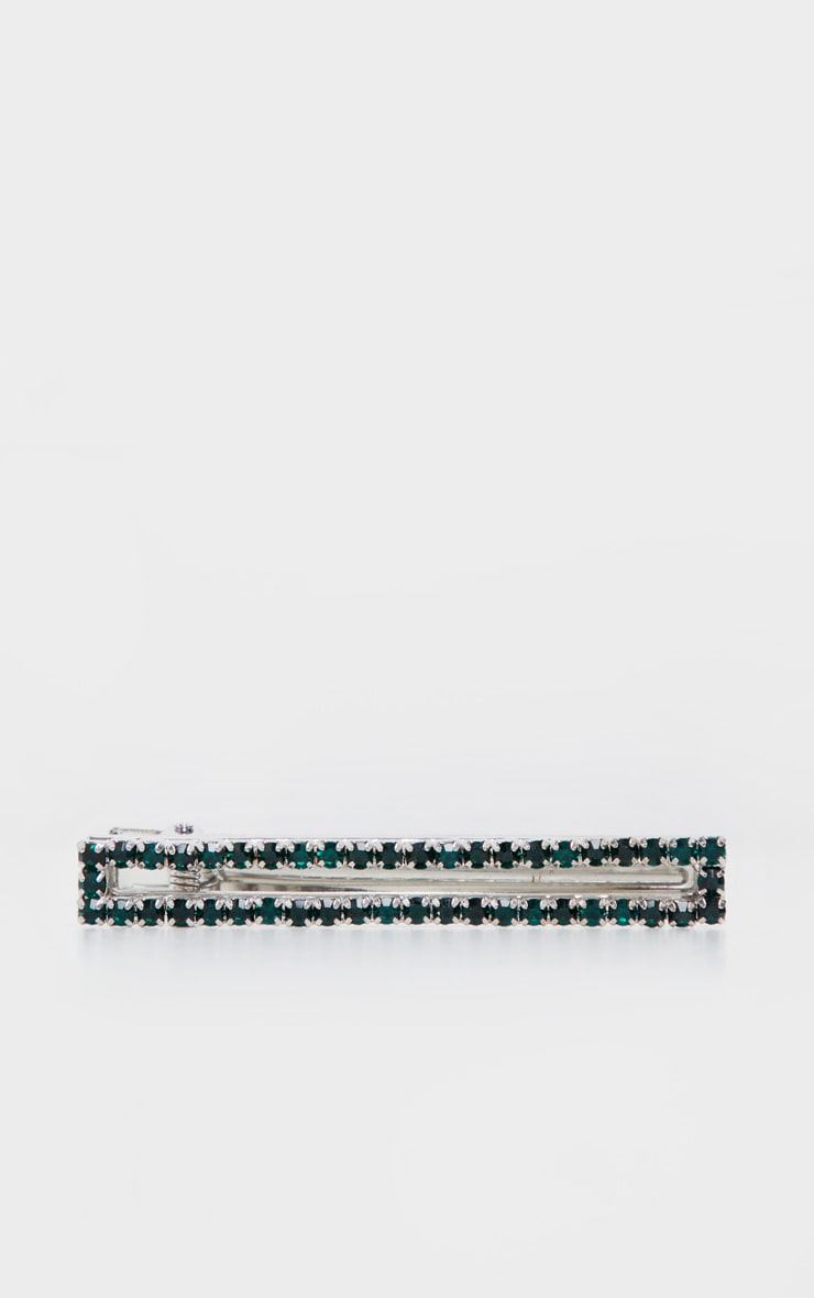 Green Diamante Oversized Hair Clip 2