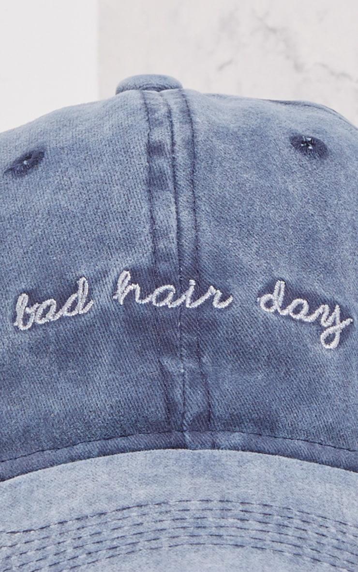 Bad Hair Day Embroidered Denim Cap 5