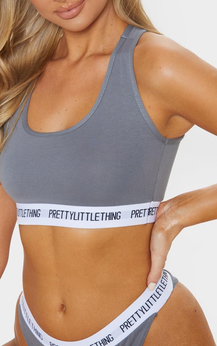 PRETTYLITTLETHING Grey Sports Bra 5