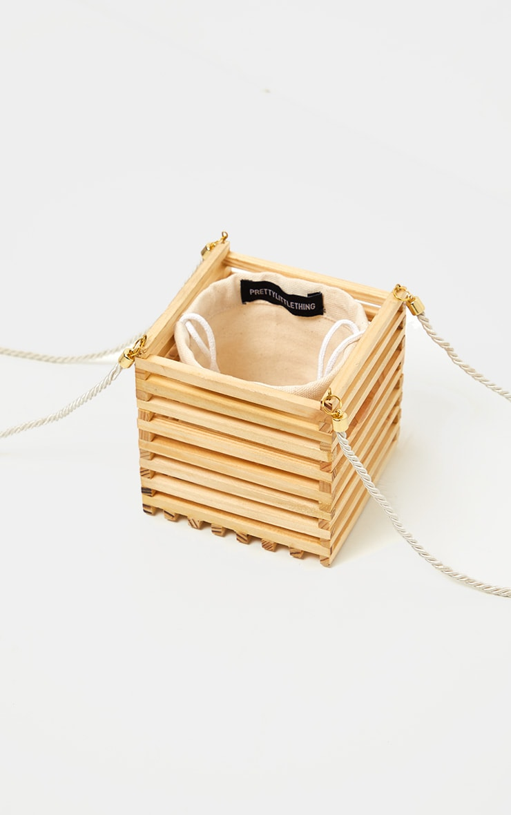 Natural Wood Cube Bag 2