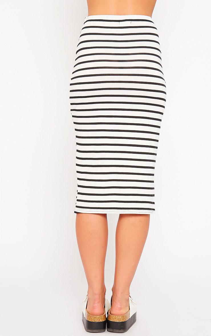 Raemona Stripe Tie Midi Skirt 4