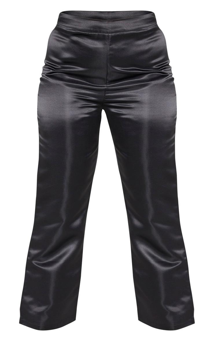 Plus Black Satin Wide Legged Pants 3