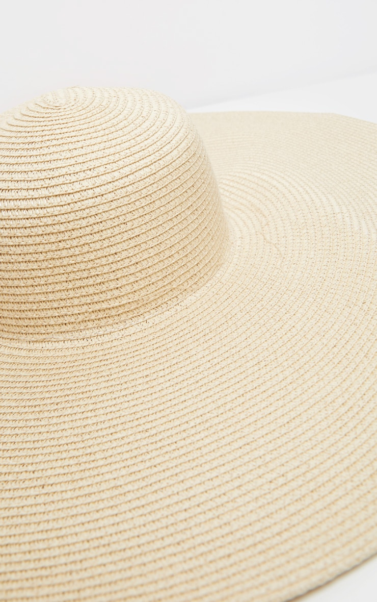 Cream Extra Large Oversized Sun Hat 4